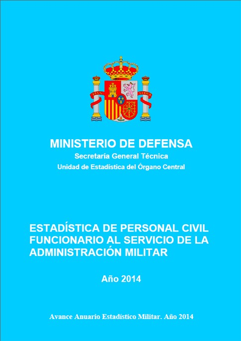 ESTADÍSTICA DEL PERSONAL CIVIL FUNCIONARIO AL SERVICIO DE LA ADMINISTRACIÓN MILITAR 2014