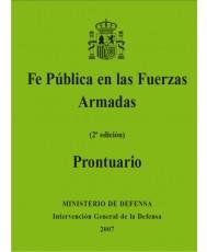 FE PÚBLICA EN LAS FUERZAS ARMADAS. PRONTUARIO (2ª Ed.)