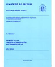 ESTADÍSTICA DE CENTROS DE FABRICACIÓN, MANTENIMIENTO E I+D 2003