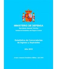 ESTADÍSTICA DE CONVOCATORIAS DE INGRESO Y ASPIRANTES 2010