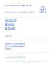 PECAL 150. REQUISITOS OTAN DE ASEGURAMIENTO DE LA CALIDAD PARA EL DESARROLLO SOFTWARE