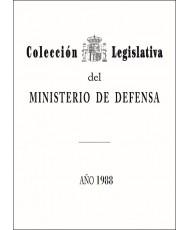 COLECCIÓN LEGISLATIVA DEL MINISTERIO DE DEFENSA. AÑO 1988