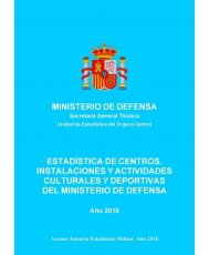 ESTADÍSTICA DE CENTROS, INSTALACIONES Y ACTIVIDADES CULTURALES Y DEPORTIVAS DEL MINISTERIO DE DEFENSA 2018