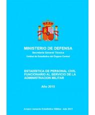 ESTADÍSTICA DEL PERSONAL CIVIL FUNCIONARIO AL SERVICIO DE LA ADMINISTRACIÓN MILITAR 2015