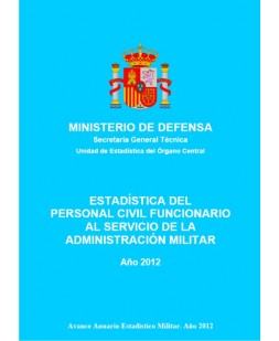 ESTADÍSTICA DEL PERSONAL CIVIL FUNCIONARIO AL SERVICIO DE LA ADMINISTRACIÓN MILITAR 2012