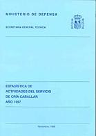 ESTADÍSTICA DE ACTIVIDADES DEL SERVICIO DE CRÍA CABALLAR 1997