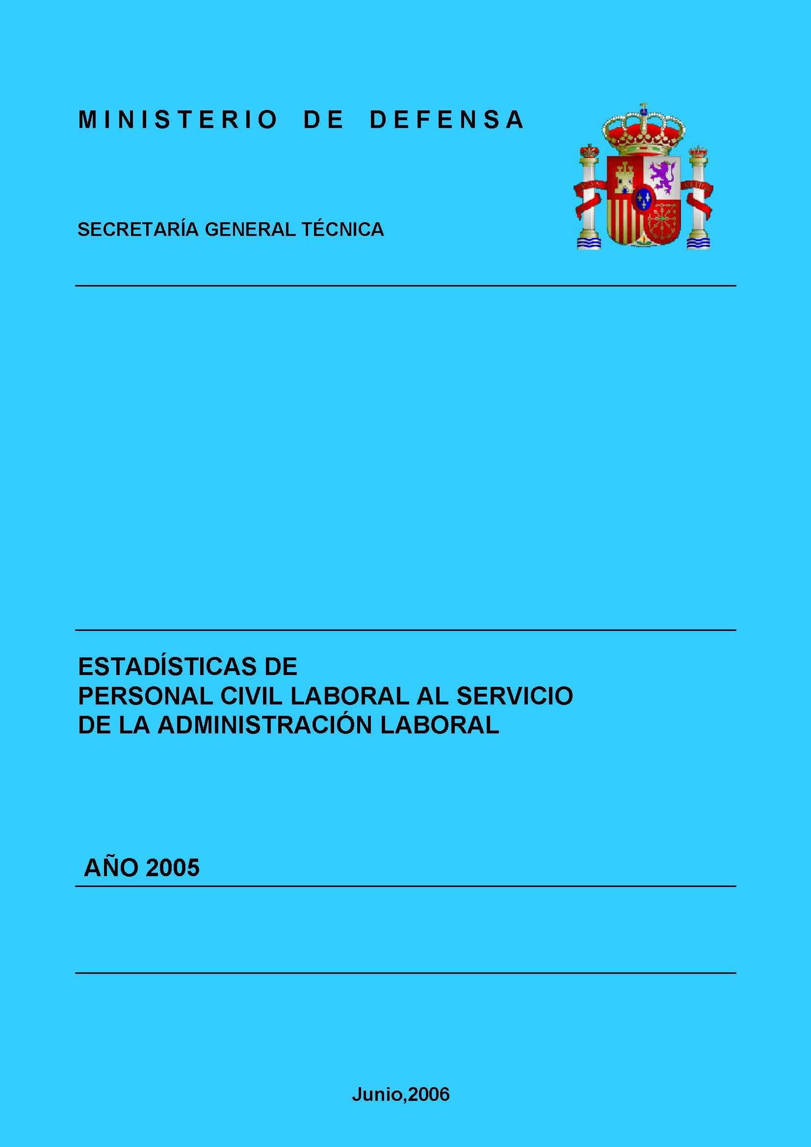 ESTADÍSTICA DEL PERSONAL CIVIL LABORAL AL SERVICIO DE LA ADMINISTRACIÓN MILITAR 2005