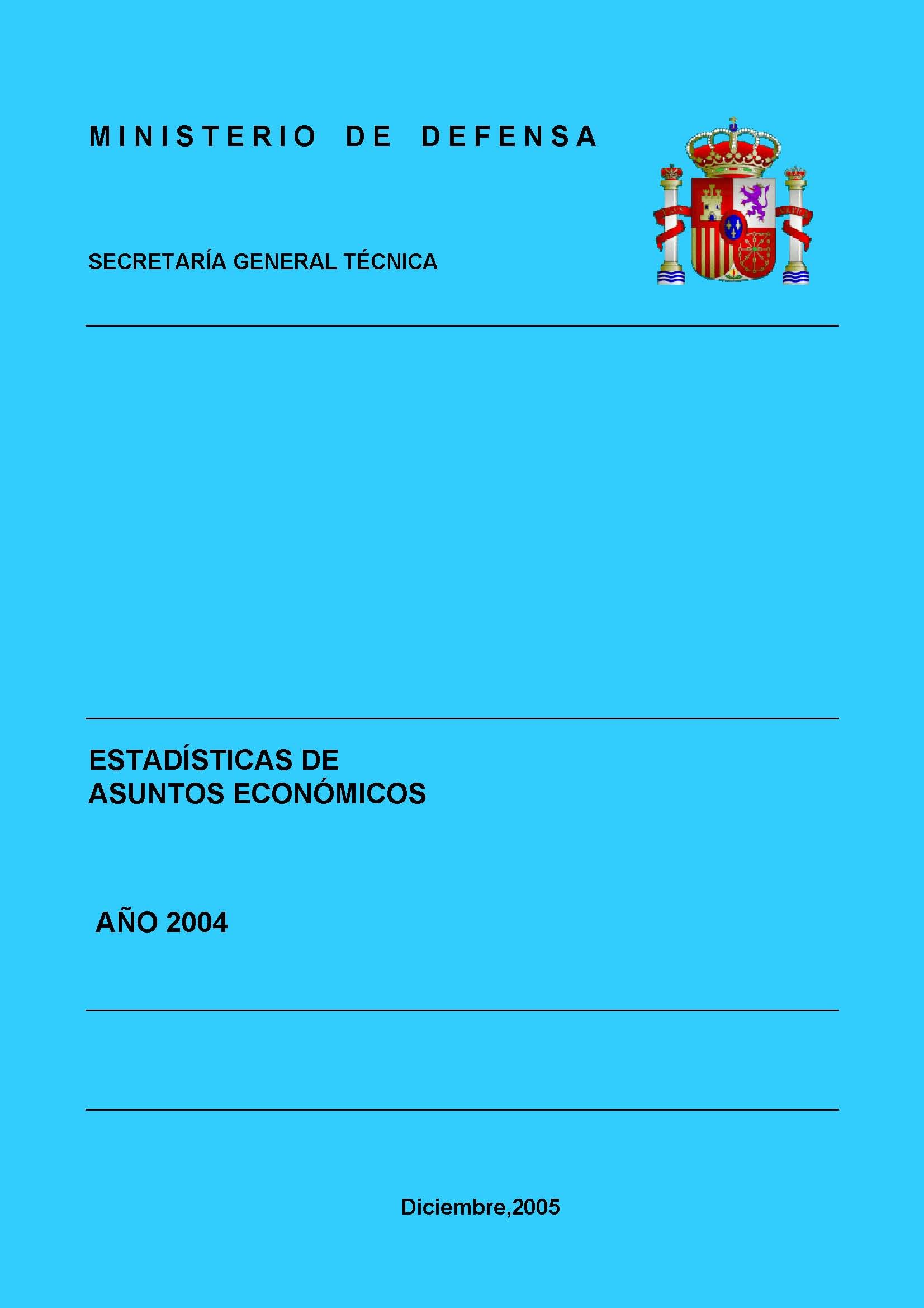 ESTADÍSTICA DE ASUNTOS ECONÓMICOS 2004