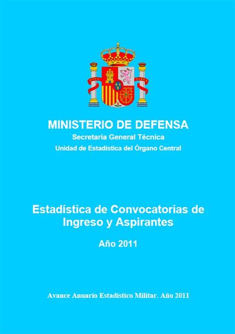 ESTADÍSTICA DE CONVOCATORIAS DE INGRESO Y ASPIRANTES 2011
