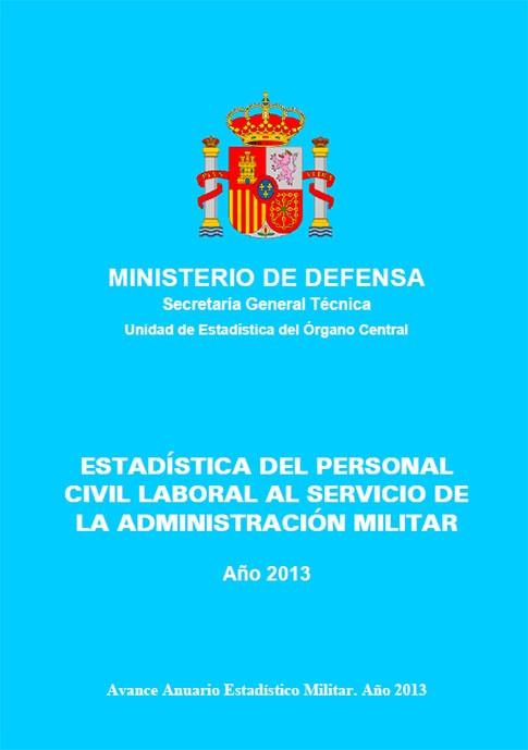 ESTADÍSTICA DEL PERSONAL CIVIL LABORAL AL SERVICIO DE LA ADMINISTRACIÓN MILITAR 2013