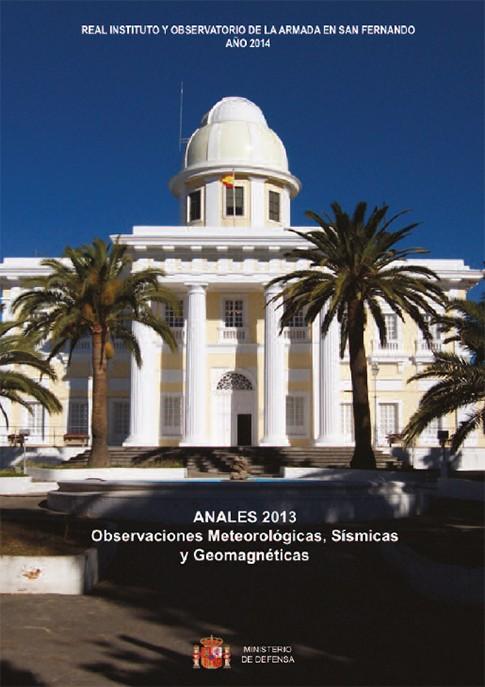 Anales. Observaciones meteorológicas, sísmicas y geomagnéticas