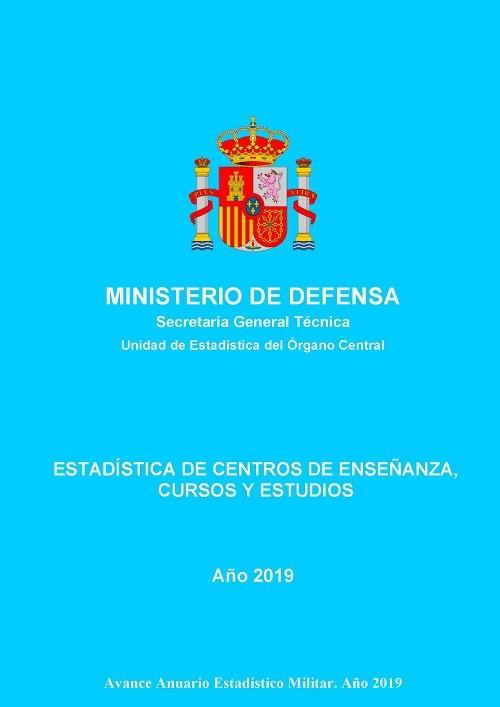 Estadística de centros de enseñanza, cursos y estudios 2019