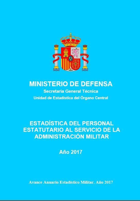 Estadística del personal estatutario al servicio de la Administración Militar
