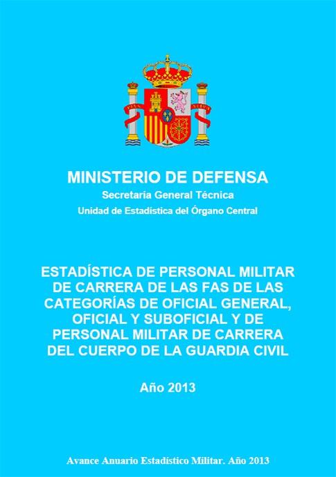ESTADISTICA DE PERSONAL MILITAR DE CARRERA DE LAS FAS DE LAS CATEGORÍAS DE OFICIAL GENERAL, OFICIAL Y SUBOFICIAL Y DE PERSONAL MILITAR DE CARRERA DE LA GUARDIA CIVIL