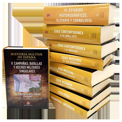 HISTORIA MILITAR DE ESPAÑA. OBRA COMPLETA (9 TOMOS)