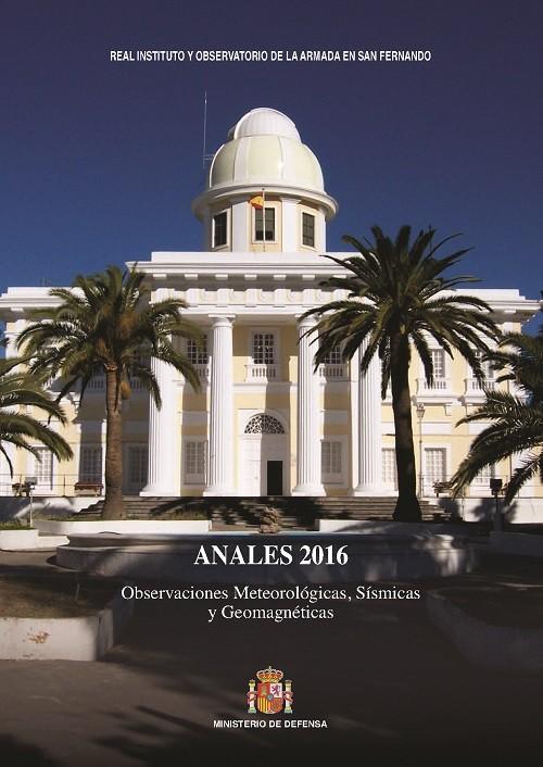 ANALES: OBSERVACIONES METEOROLÓGICAS, SÍSMICAS Y GEOMAGNÉTICAS