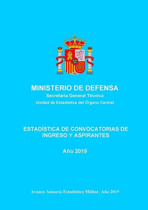 Estadística de convocatorias de ingreso y aspirantes 2019
