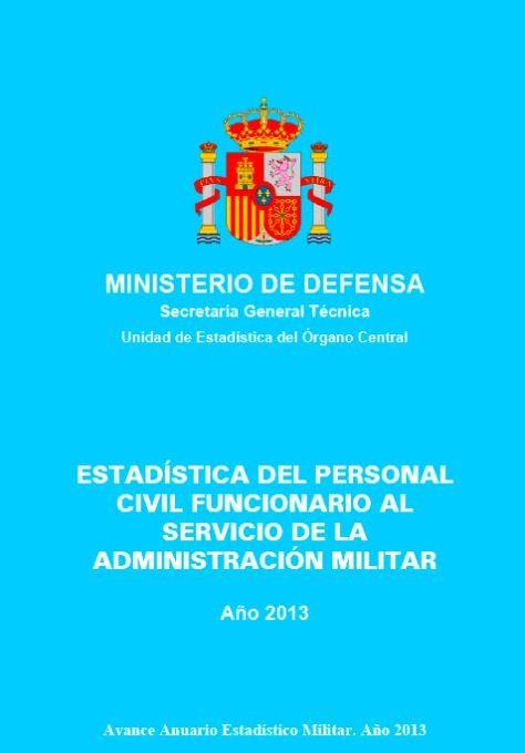 ESTADÍSTICA DEL PERSONAL CIVIL FUNCIONARIO AL SERVICIO DE LA ADMINISTRACIÓN MILITAR 2013