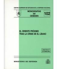ORIENTE PRÓXIMO TRAS LA CRISIS DE EL LÍBANO, EL