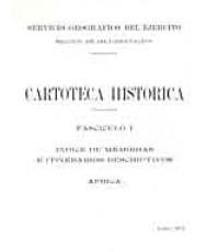 ÍNDICE DE MEMORIAS E ITINERARIOS DESCRIPTIVOS: ÁFRICA. Fascículo I