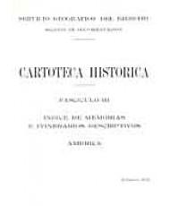 ÍNDICE DE MEMORIAS E ITINERARIOS DESCRIPTIVOS: AMÉRICA. Fascículo III