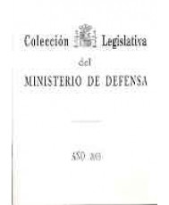 COLECCIÓN LEGISLATIVA DEL MINISTERIO DE DEFENSA. AÑO 2005 (ÍNDICE ALFABÉTICO)