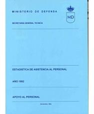 ESTADÍSTICA DE ASISTENCIA AL PERSONAL. APOYO AL PERSONAL 1992