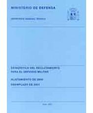 ESTADÍSTICA DE RECLUTAMIENTO PARA EL SERVICIO MILITAR. ALISTAMIENTO DE 2000. REEMPLAZO DE 2001