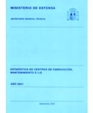ESTADÍSTICA DE CENTROS DE FABRICACIÓN, MANTENIMIENTO E I+D 2001
