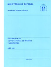 ESTADÍSTICA DE CONVOCATORIAS DE INGRESO Y ASPIRANTES. PLAN PARCIAL DE ENSEÑANZA 2001