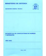 ESTADÍSTICA DE CONVOCATORIAS DE INGRESO Y ASPIRANTES 2002