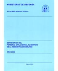 ESTADÍSTICA DEL PERSONAL CIVIL LABORAL AL SERVICIO DE LA ADMINISTRACIÓN MILITAR 2003