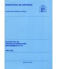ESTADÍSTICA DE CENTROS DE FABRICACIÓN, MANTENIMIENTO E I+D 2002