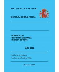 ESTADÍSTICA DE CENTROS DE ENSEÑANZA, CURSOS Y ESTUDIOS 2005