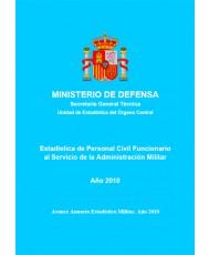 ESTADÍSTICA DEL PERSONAL CIVIL FUNCIONARIO AL SERVICIO DE LA ADMINISTRACIÓN MILITAR 2010