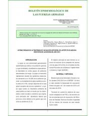 BOLETÍN EPIDEMIOLÓGICO DE LAS FUERZAS ARMADAS VOL. 21 Nº 247 MAYO 2014