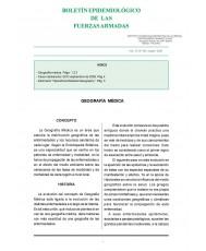 BOLETÍN EPIDEMIOLÓGICO DE LAS FUERZAS ARMADAS. VOL. 15. Nº 180. OCTUBRE 2008
