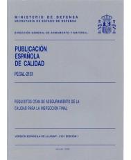 PECAL 2131. REQUISITOS OTAN DE ASEGURAMIENTO DE LA CALIDAD PARA LA INSPECCIÓN FINAL