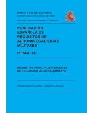PERAM – 147. REQUISITOS PARA ORGANIZACIONES DE FORMACIÓN DE MANTENIMIENTO