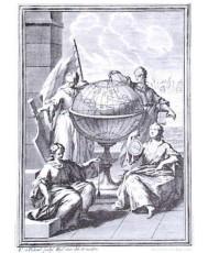 ALEGORICA A LA ASTRONOMIA.GEODESIA Y NAVEGACION 1768 4 MUSAS