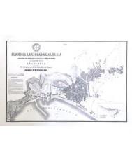 PLANO DE LA CIUDAD DE ALMERIA 1864