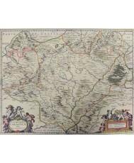 ARCHIESPISCOPATUS CARAGOCAE OLIM CAESARIS AUGUSTI POR J. JANSSONIUS. AÑO 1653