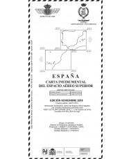 ESPAÑA. CARTA INSTRUMENTAL DEL ESPACIO AÉREO SUPERIOR