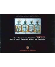 Catálogo de expedientes de personas célebres del Archivo General Militar de Segovia