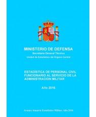 ESTADÍSTICA DE PERSONAL CIVIL FUNCIONARIO AL SERVICIO DE LA ADMINISTRACIÓN MILITAR 2016