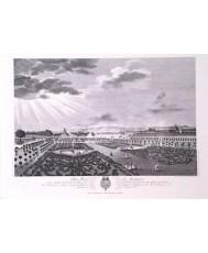 ARANJUEZ REAL SITIO 1773 VISTO DESDE UN BALCON DE PALACIO. UNICOLOR. 42*30