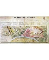 LÉRIDA. PLANO ANTIGUO CIUDAD