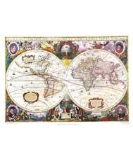 MAPA-MUNDI POR HERICUS HONDIUS AMSTERDAM 1641