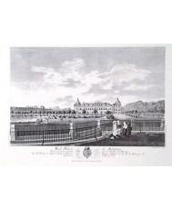 ARANJUEZ, PALACIO REAL 1773, VISTO DESDE EL PUENTE DE BARCAS