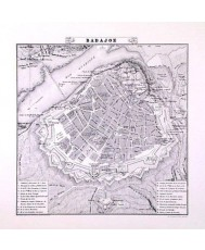 PLANO DE LA CIUDAD DE BADAJOZ 1853